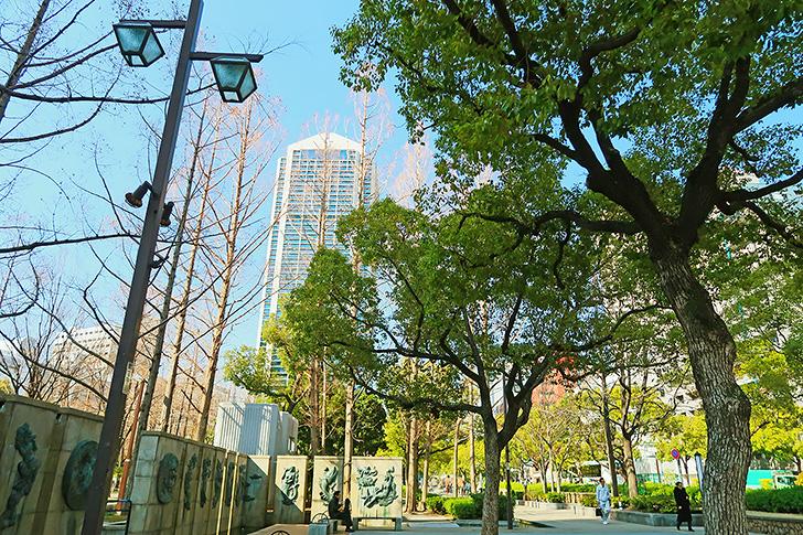 東遊園地の風景