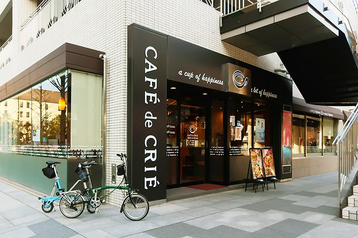 映画「フォルトゥナの瞳」のロケ地、カフェドクリエ 神戸ポートアイランド店の外観