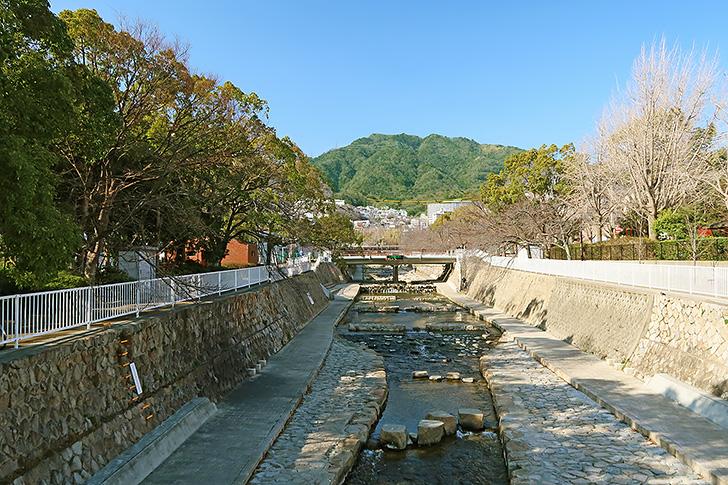 都賀川の風景