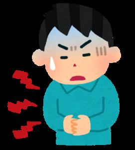 イラスト:腹痛のイメージ
