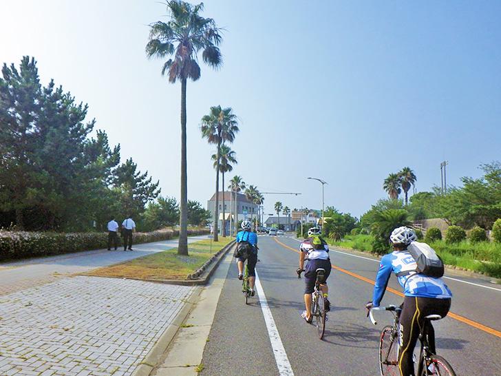 夏の朝のサイクリングの写真