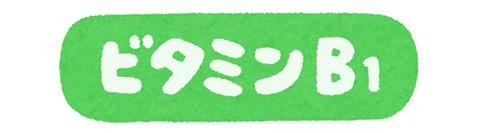 ビタミンB1の文字イラスト