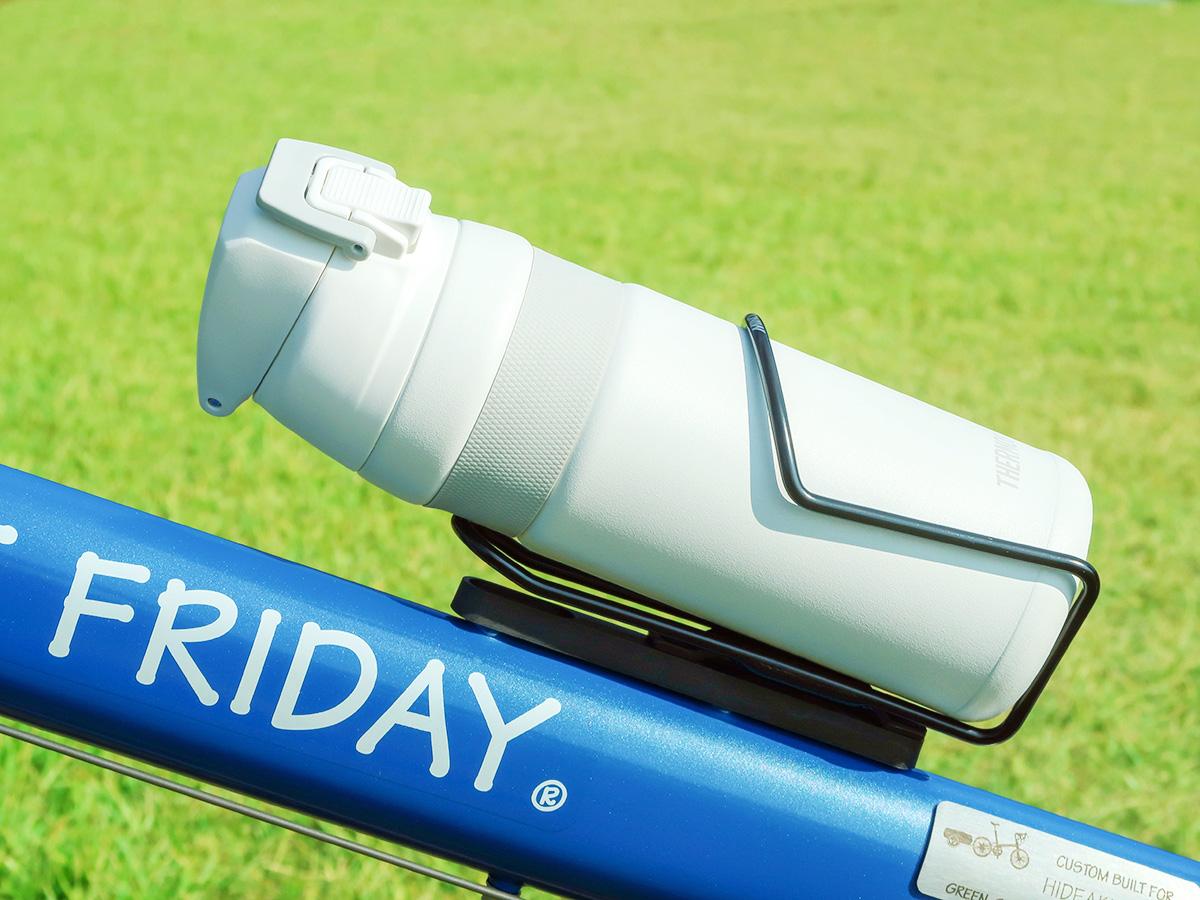 自転車のボトルケージに収納できる魔法瓶「サーモスFJF-580」