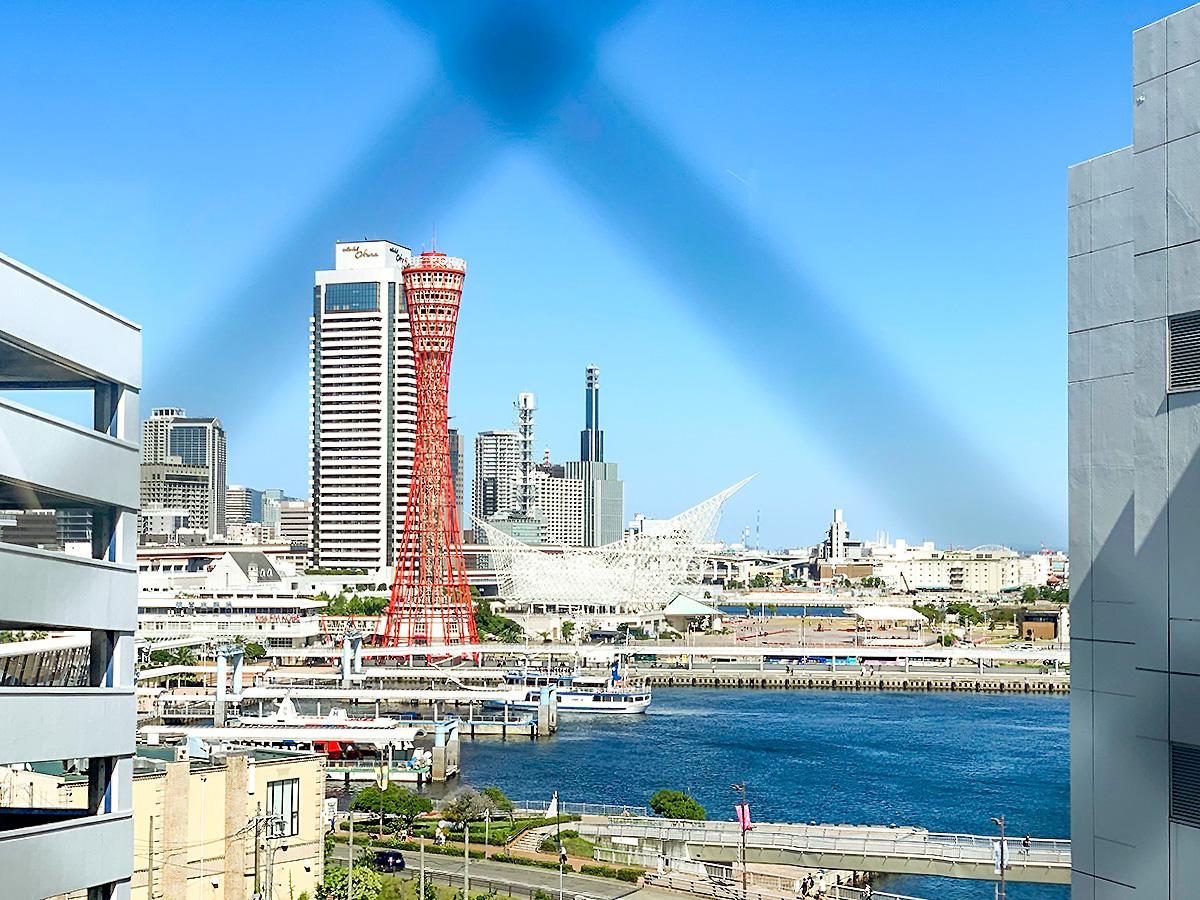 神戸ハーバーランドUmieの駐車場付近からの風景
