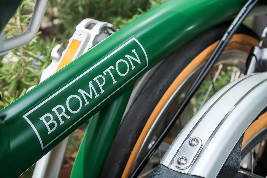 BROMPTON(ブロンプトン)のフレームステッカー部分の写真