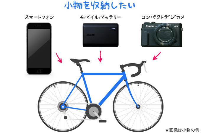 自転車と小物イメージ